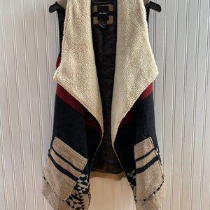 ME Jane Women's Faux Fur Aztec Vest
